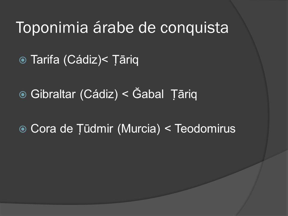 Toponimia árabe de conquista