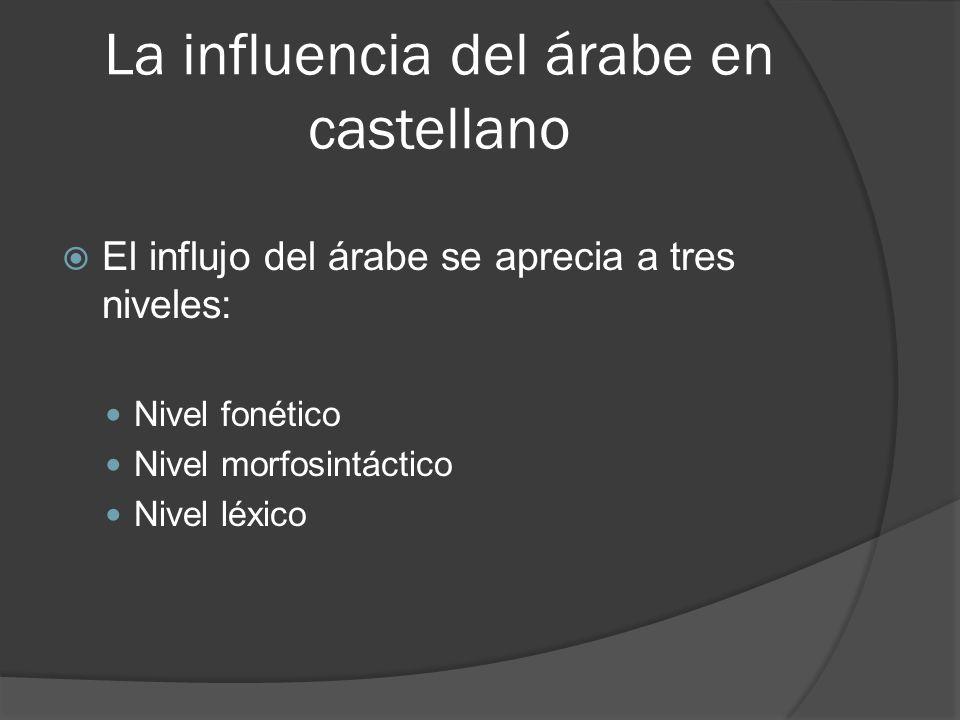 La influencia del árabe en castellano