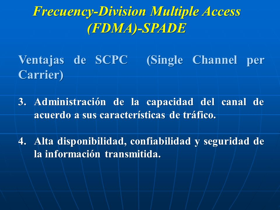 Frecuency-Division Multiple Access (FDMA)-SPADE