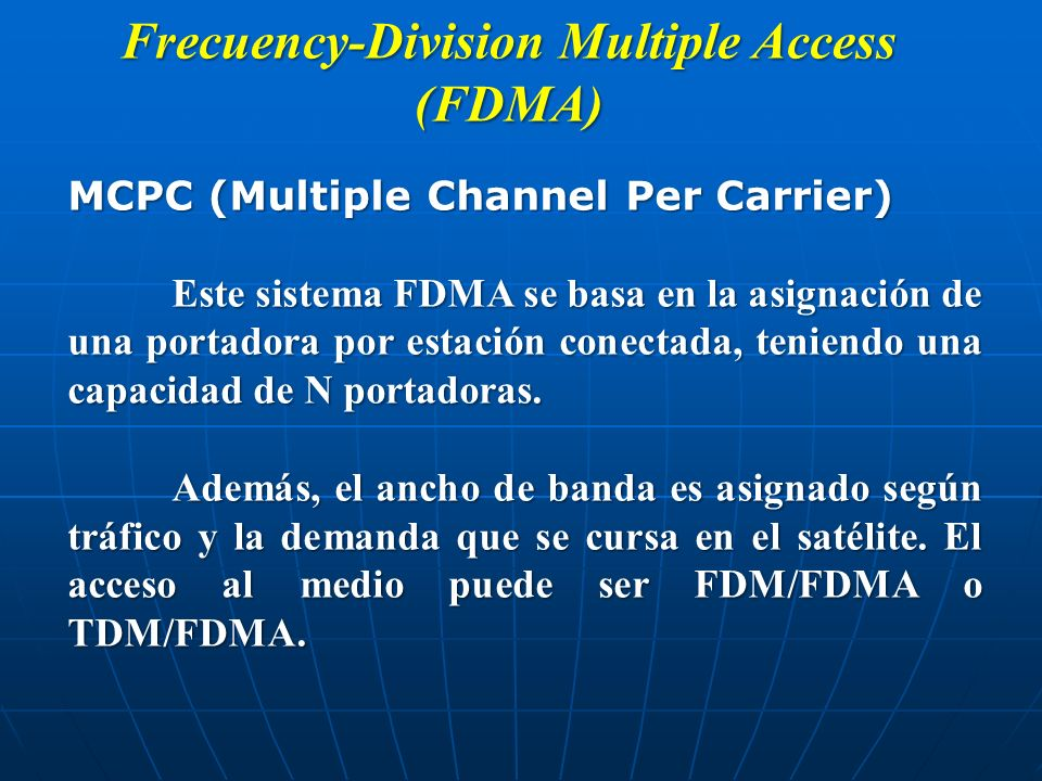 Frecuency-Division Multiple Access (FDMA)