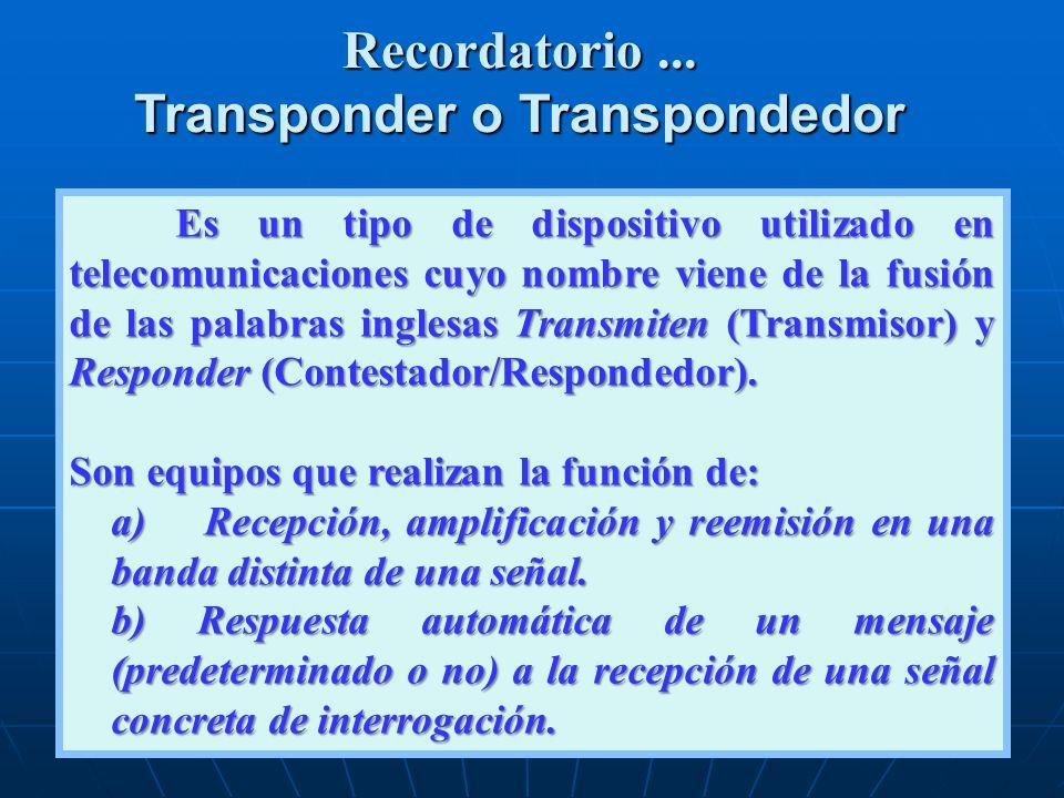 Transponder o Transpondedor