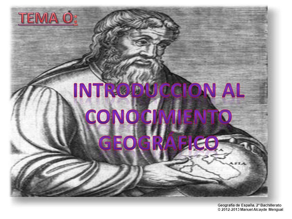 INTRODUCCION AL CONOCIMIENTO GEOGRÁFICO