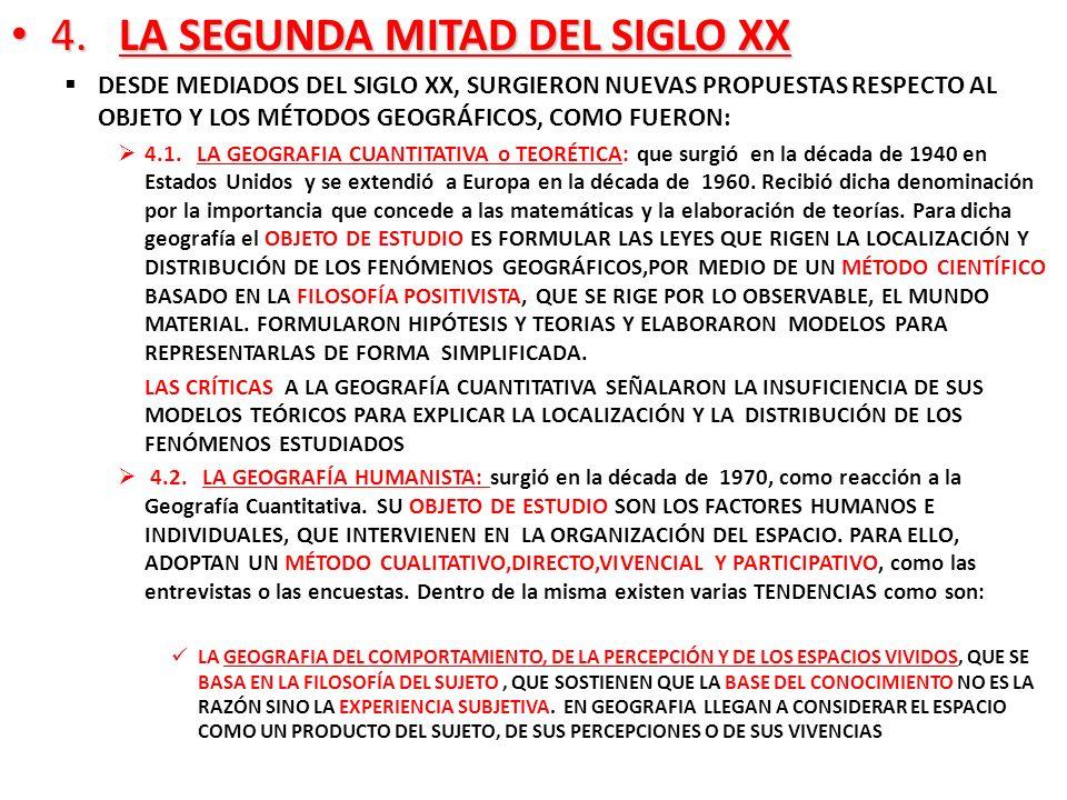 4. LA SEGUNDA MITAD DEL SIGLO XX