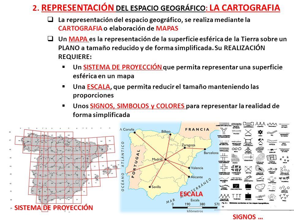 2. REPRESENTACIÓN DEL ESPACIO GEOGRÁFICO: LA CARTOGRAFIA