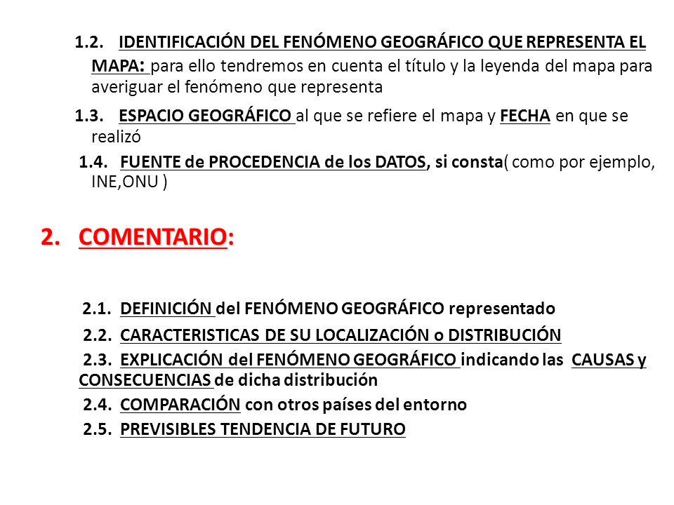 2.1. DEFINICIÓN del FENÓMENO GEOGRÁFICO representado