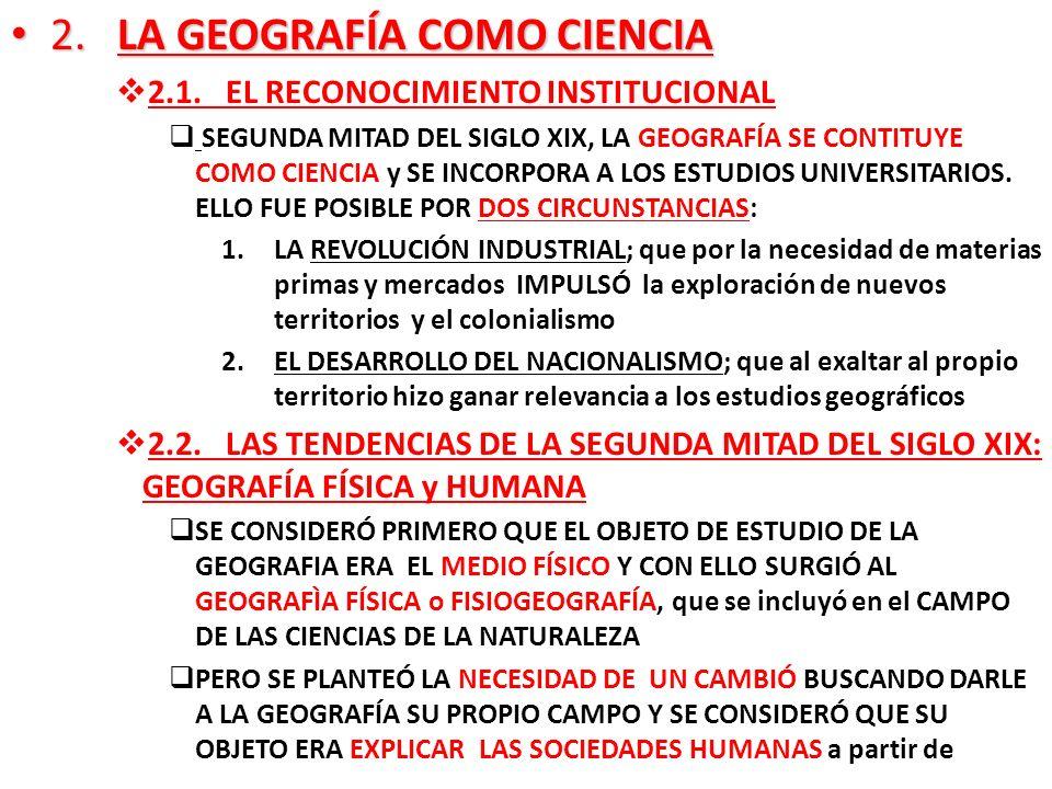 2. LA GEOGRAFÍA COMO CIENCIA
