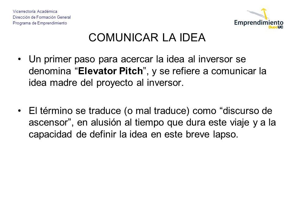 COMUNICAR LA IDEA