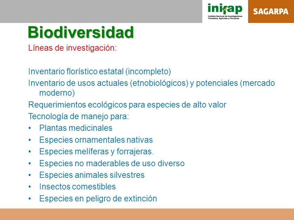 Biodiversidad Líneas de investigación: