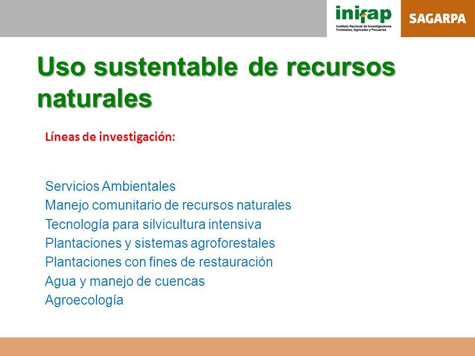Uso sustentable de recursos naturales