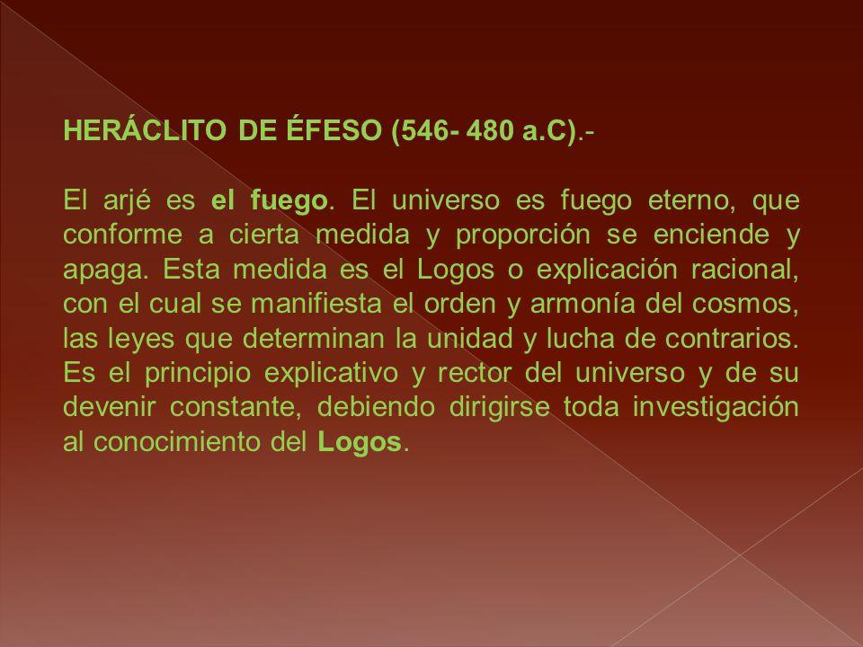 HERÁCLITO DE ÉFESO (546- 480 a.C).-