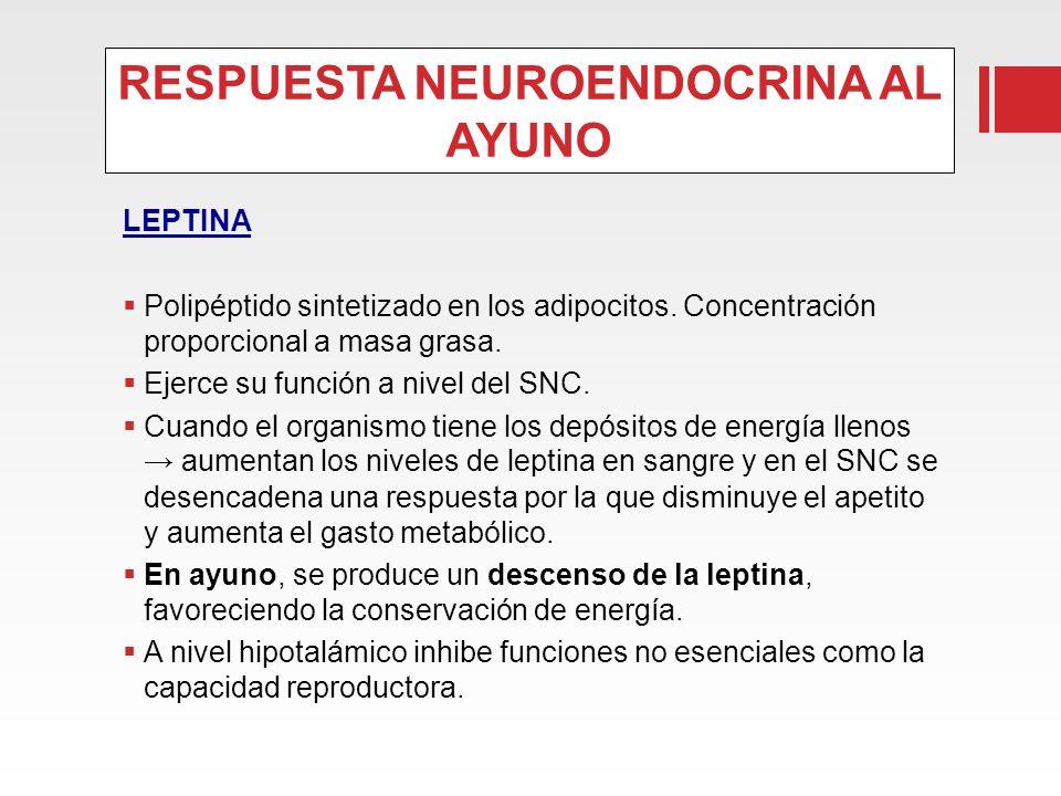 RESPUESTA NEUROENDOCRINA AL AYUNO