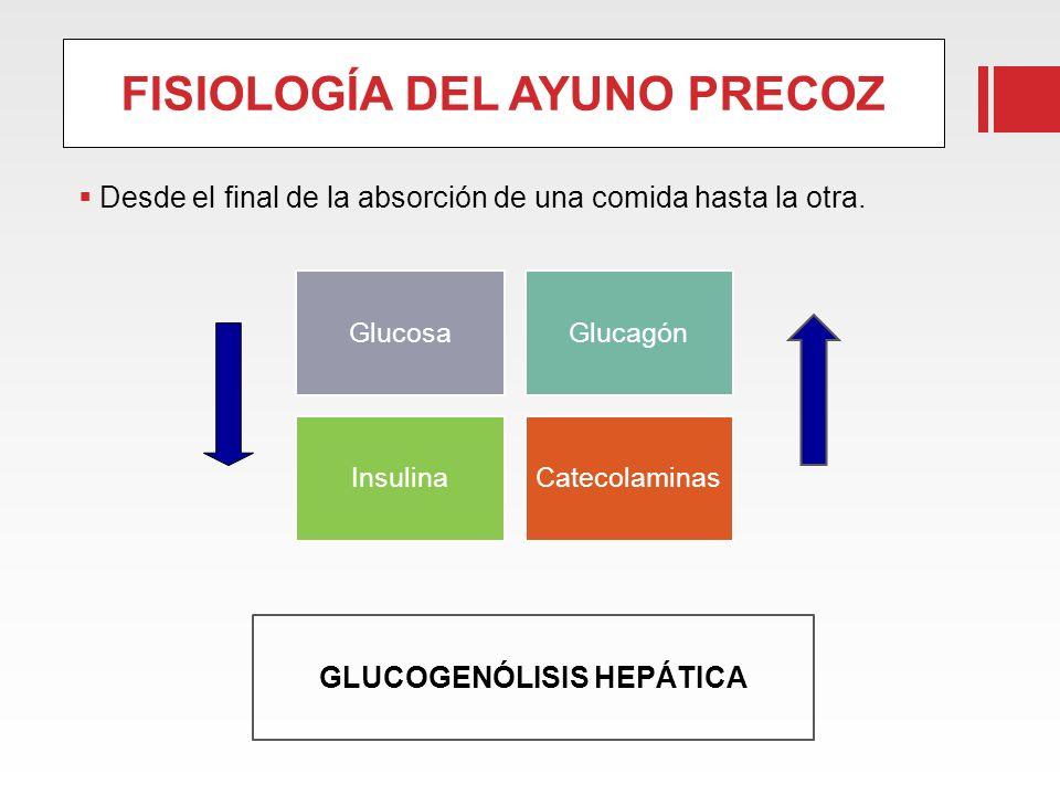 FISIOLOGÍA DEL AYUNO PRECOZ