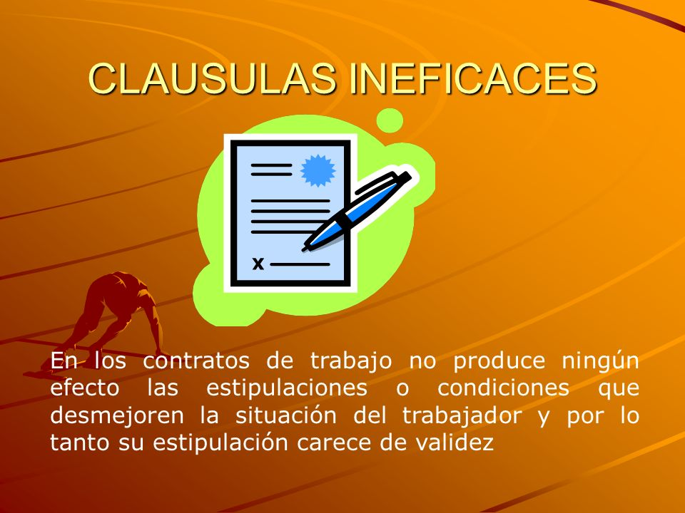 CLAUSULAS INEFICACES