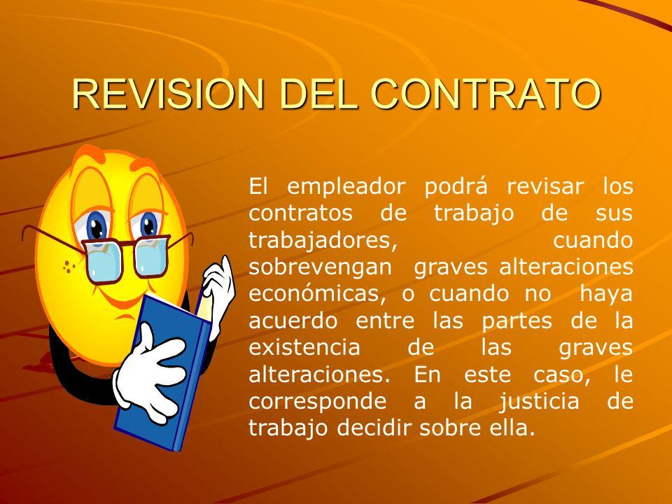 REVISION DEL CONTRATO