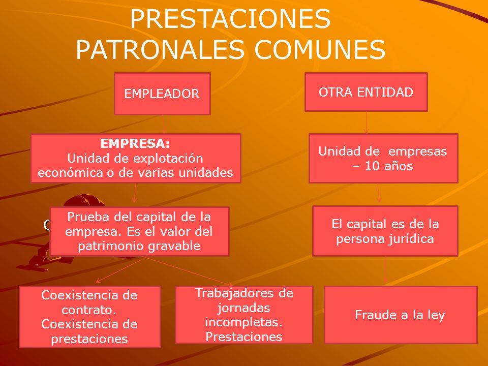 PRESTACIONES PATRONALES COMUNES