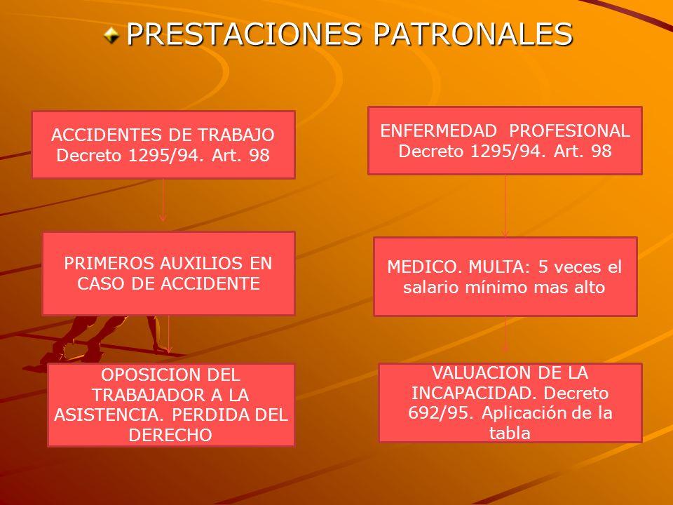 PRESTACIONES PATRONALES