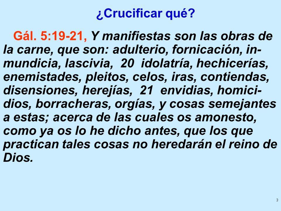 ¿Crucificar qué