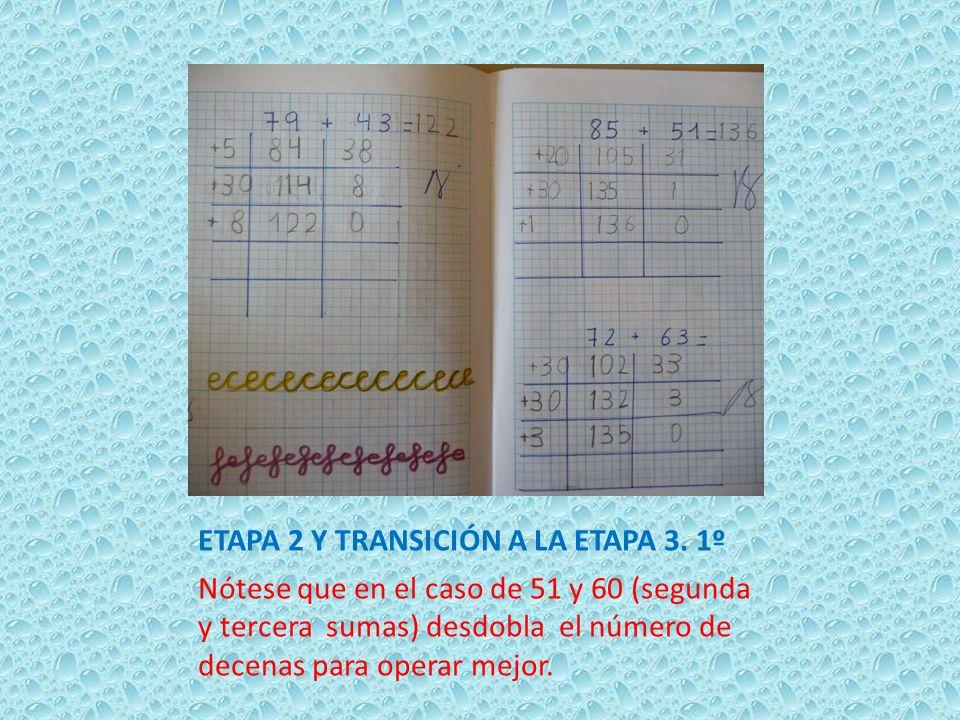 ETAPA 2 Y TRANSICIÓN A LA ETAPA 3. 1º