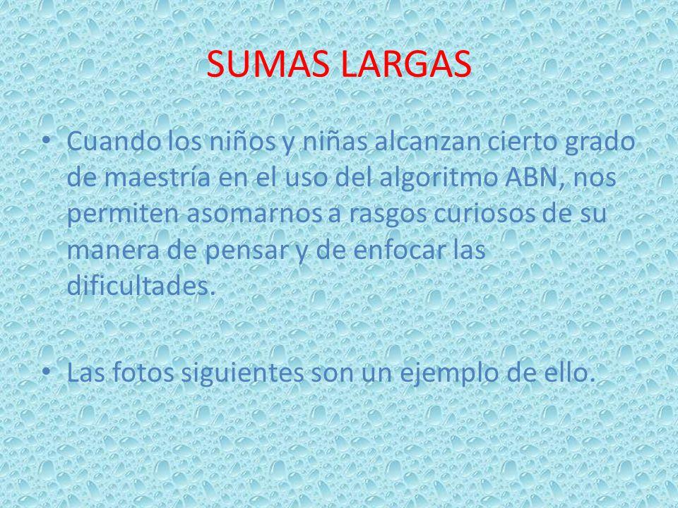 SUMAS LARGAS