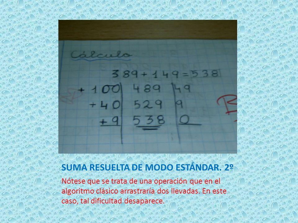SUMA RESUELTA DE MODO ESTÁNDAR. 2º