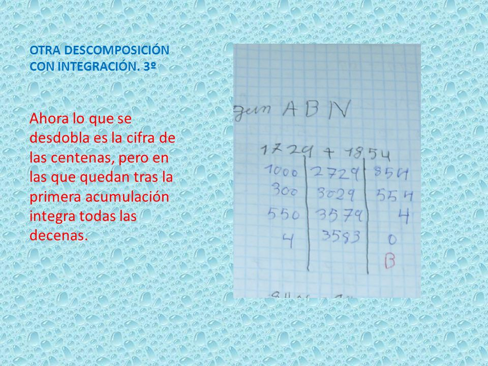 OTRA DESCOMPOSICIÓN CON INTEGRACIÓN. 3º