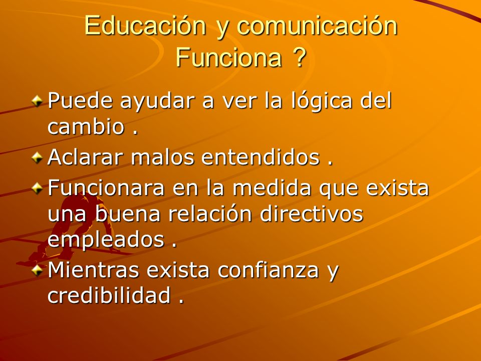 Educación y comunicación Funciona