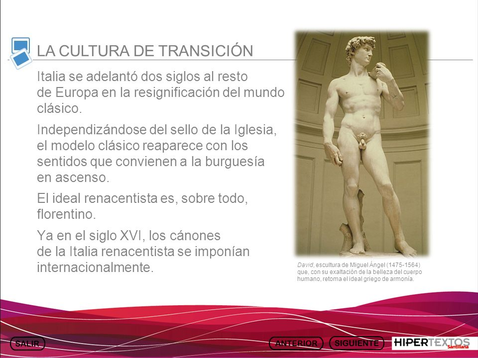 LA CULTURA DE TRANSICIÓN