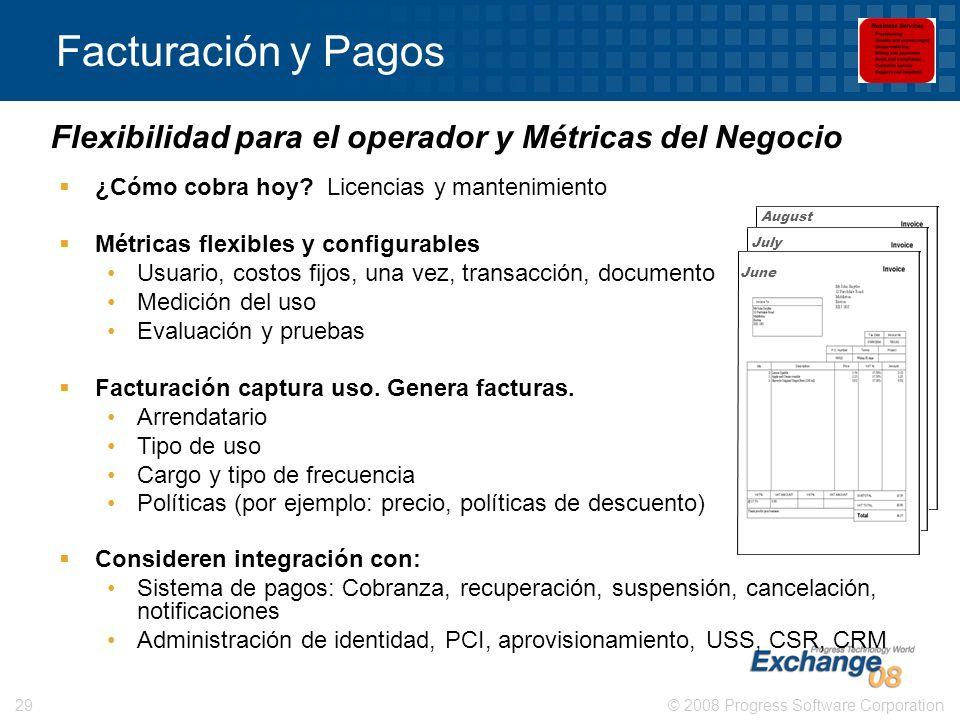 Facturación y Pagos Flexibilidad para el operador y Métricas del Negocio. ¿Cómo cobra hoy Licencias y mantenimiento.