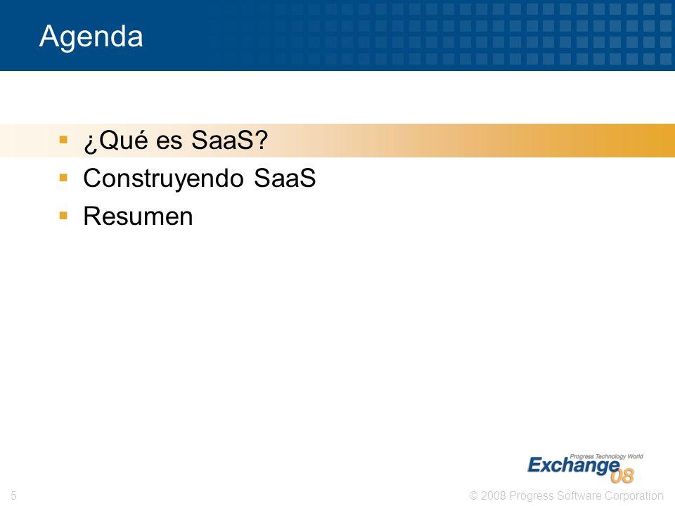 Agenda ¿Qué es SaaS Construyendo SaaS Resumen