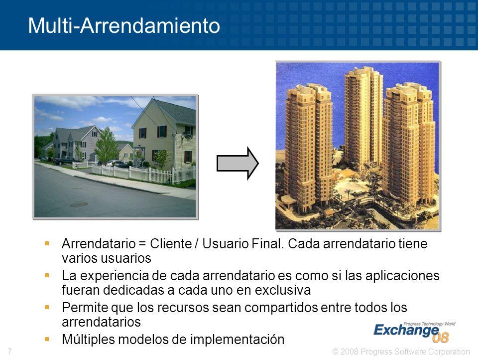 Multi-Arrendamiento Arrendatario = Cliente / Usuario Final. Cada arrendatario tiene varios usuarios.