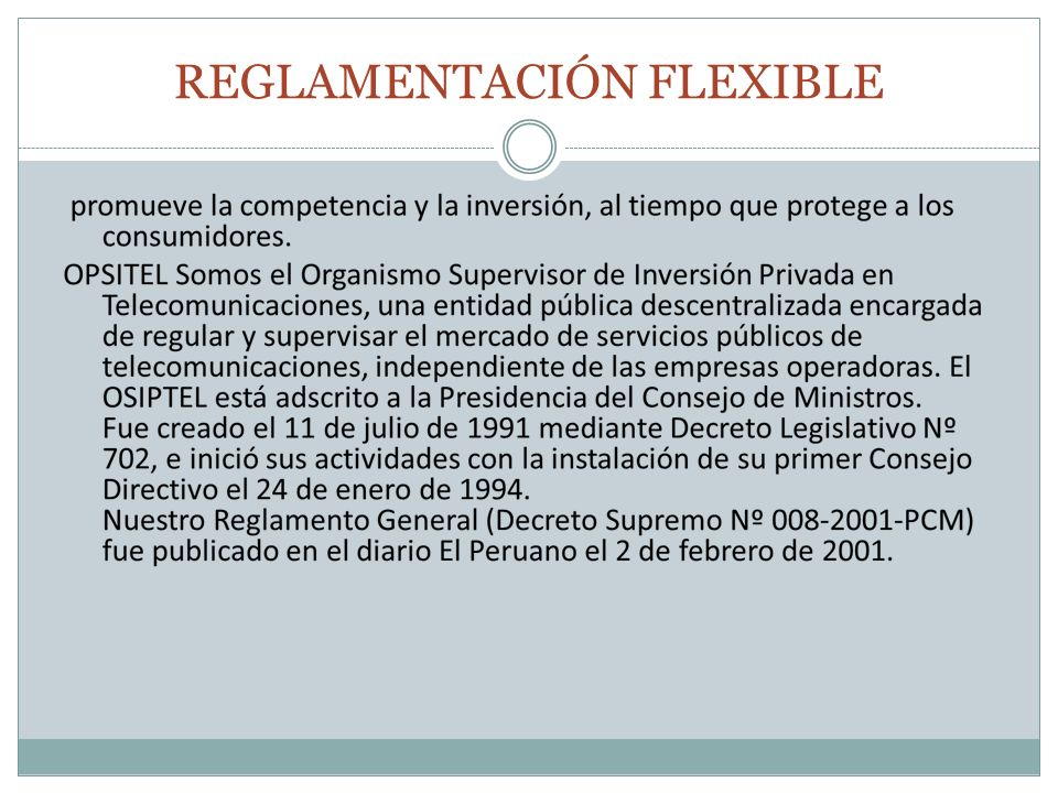 REGLAMENTACIÓN FLEXIBLE