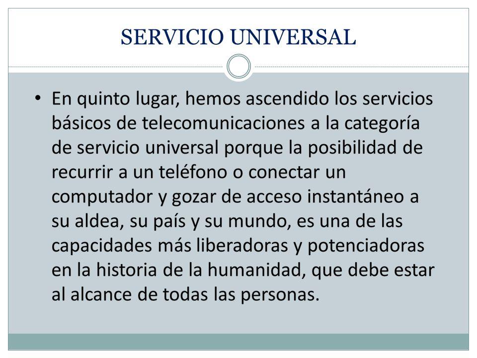 SERVICIO UNIVERSAL