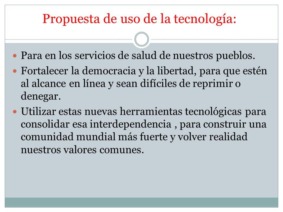 Propuesta de uso de la tecnología:
