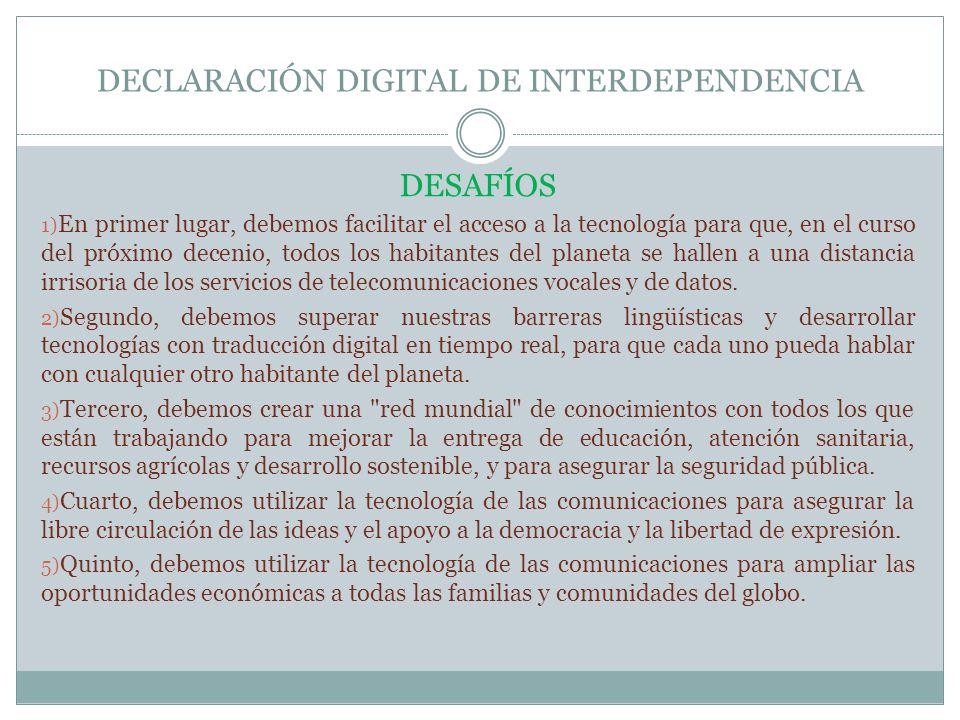 DECLARACIÓN DIGITAL DE INTERDEPENDENCIA