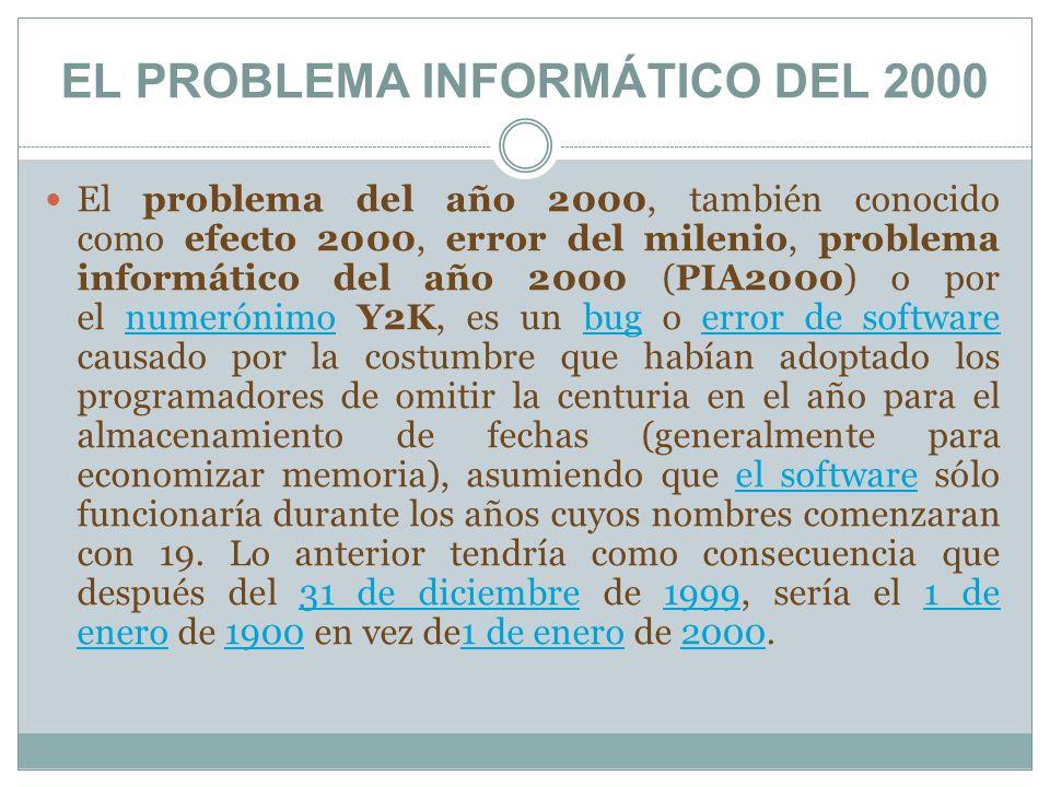 EL PROBLEMA INFORMÁTICO DEL 2000