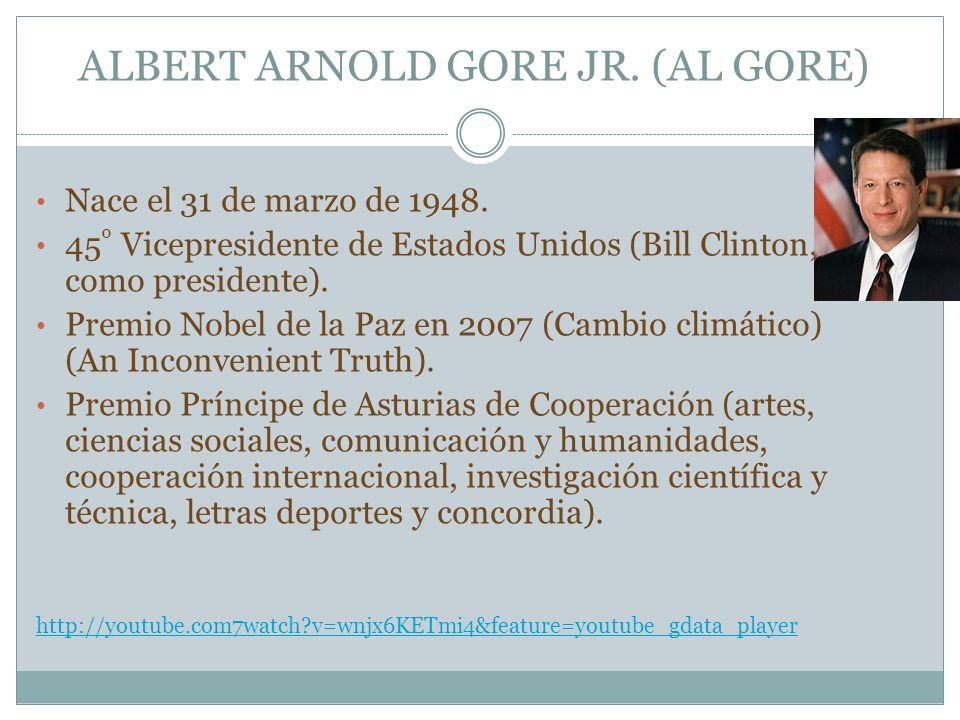 ALBERT ARNOLD GORE JR. (AL GORE)