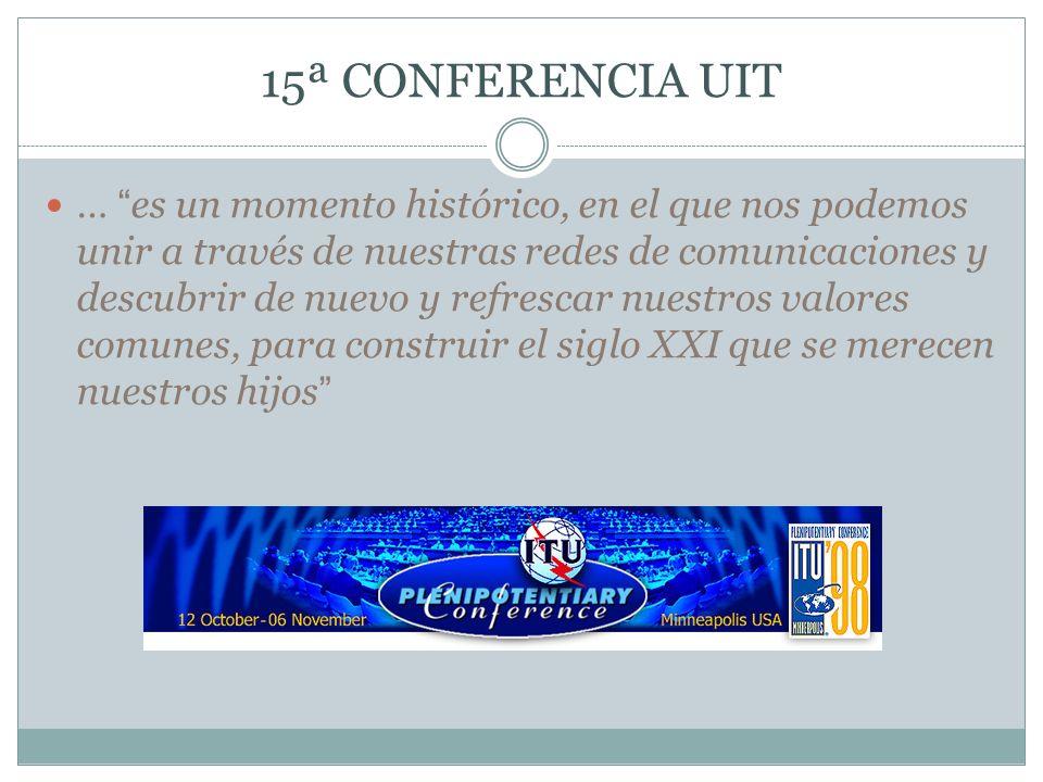 15ª CONFERENCIA UIT