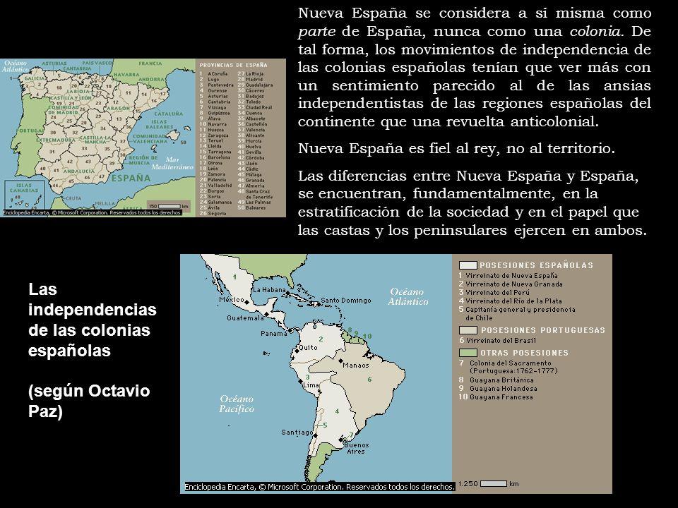 Las independencias de las colonias españolas