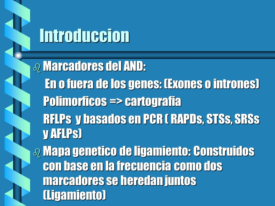 Introduccion Marcadores del AND: