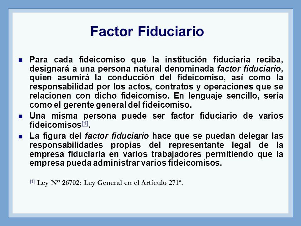 Factor Fiduciario