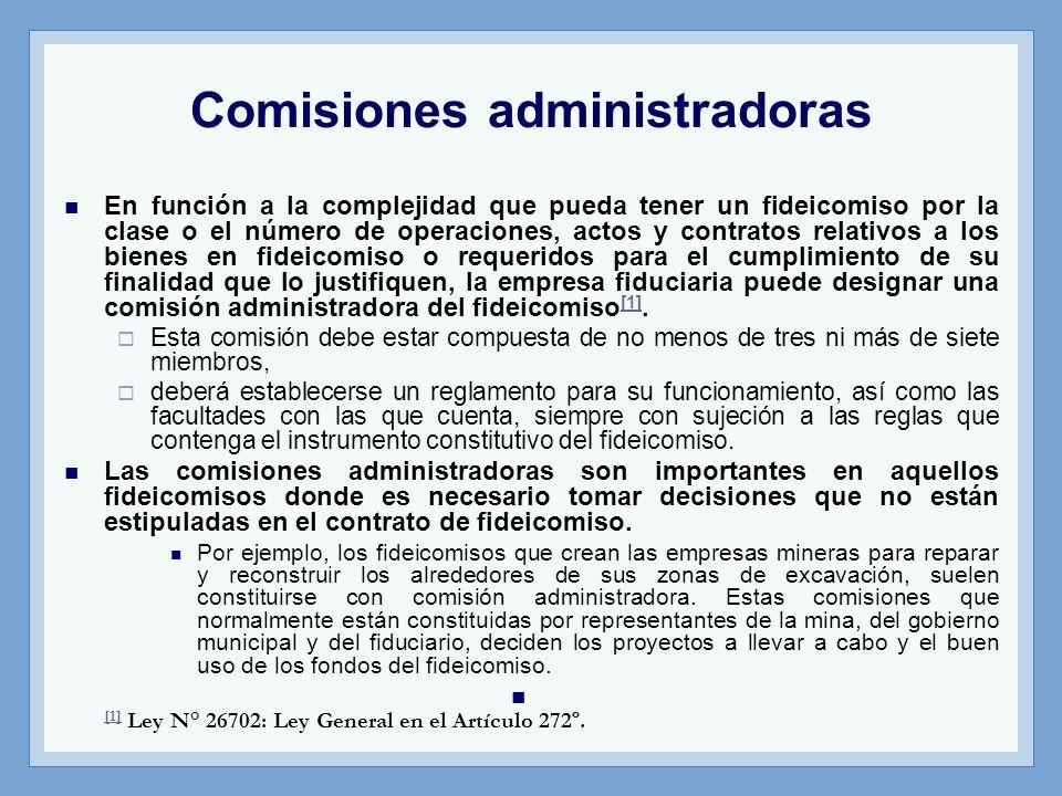 Comisiones administradoras