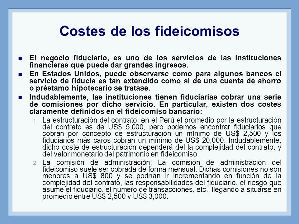 Costes de los fideicomisos