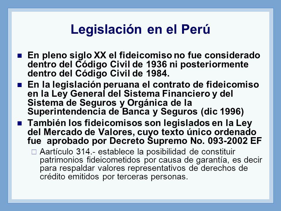 Legislación en el Perú