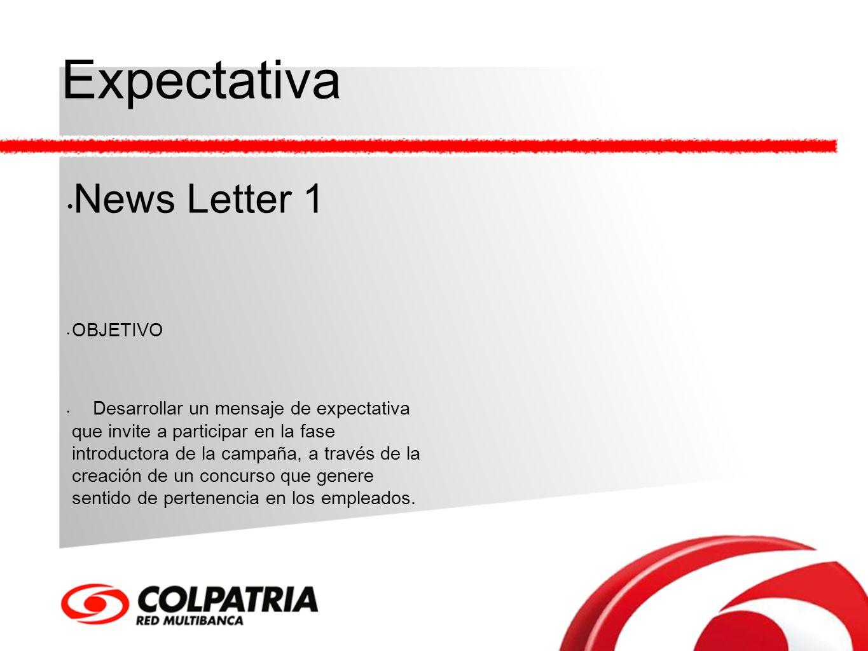 Expectativa News Letter 1 OBJETIVO