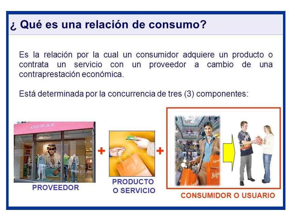 ¿ Qué es una relación de consumo