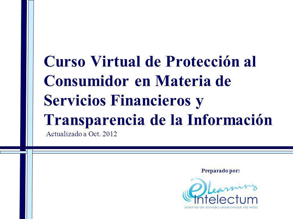 Curso Virtual de Protección al Consumidor en Materia de Servicios Financieros y Transparencia de la Información