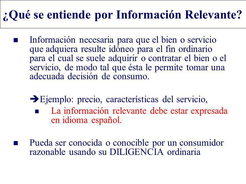 ¿Qué se entiende por Información Relevante