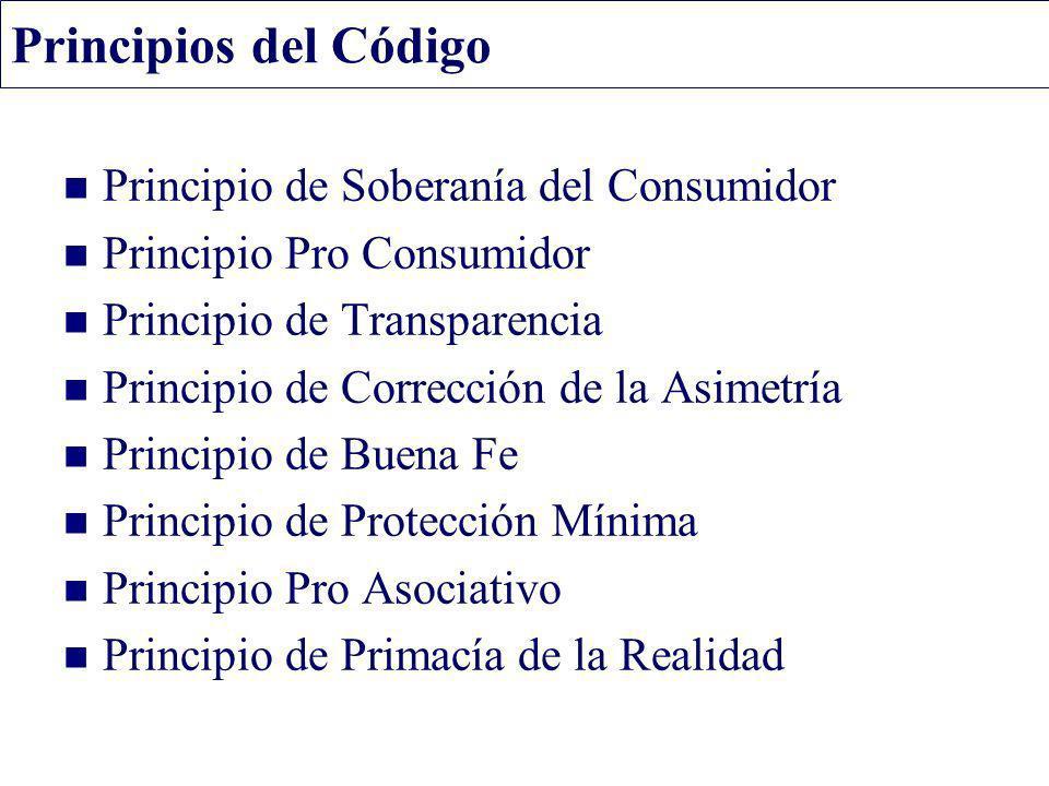 Principios del Código Principio de Soberanía del Consumidor