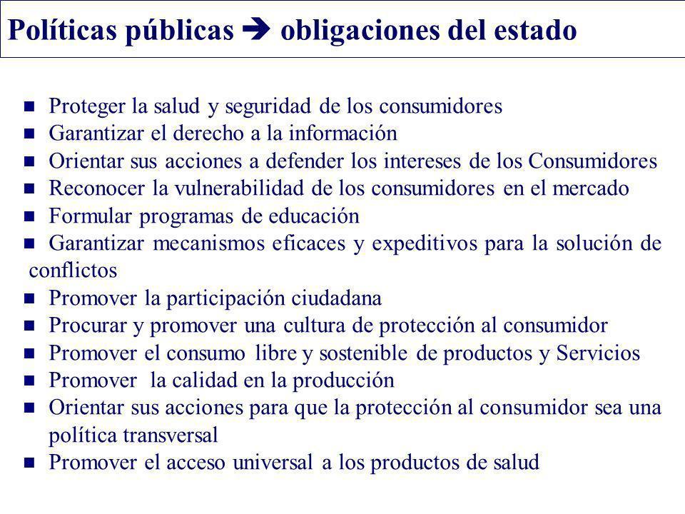 Políticas públicas  obligaciones del estado