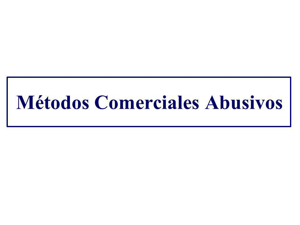Métodos Comerciales Abusivos